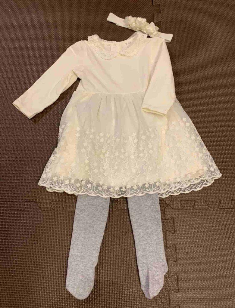 0歳児入園式 女の子の服